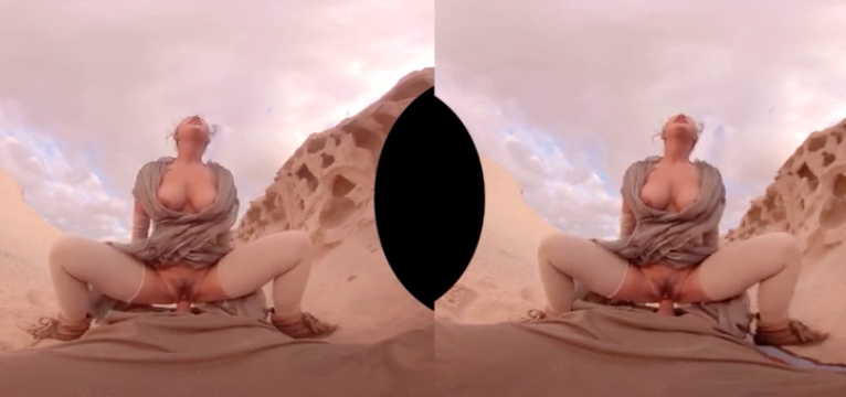 Madura de coño peludo follando duro en el desierto